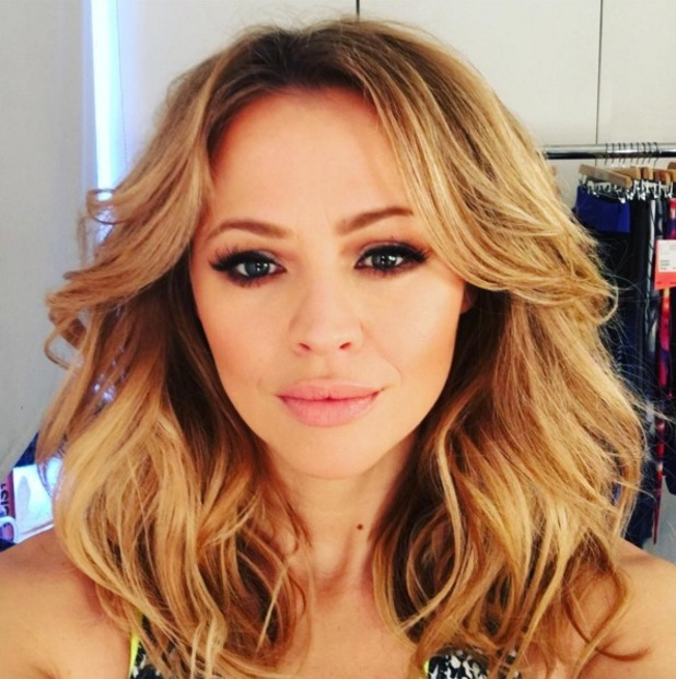 Kimberley Walsh new Gold Fever Hair Extensions by Lisa Laudat, 7 January 2015