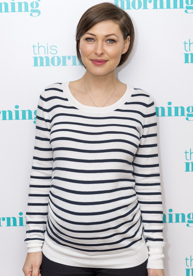 Pregnant Emma Willis appears on This Morning' TV show, London, Britain - 06 Jan 2016