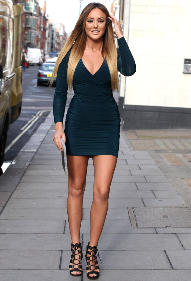 Charlotte Crosby out and about, London, Britain - 04 Jan 2016