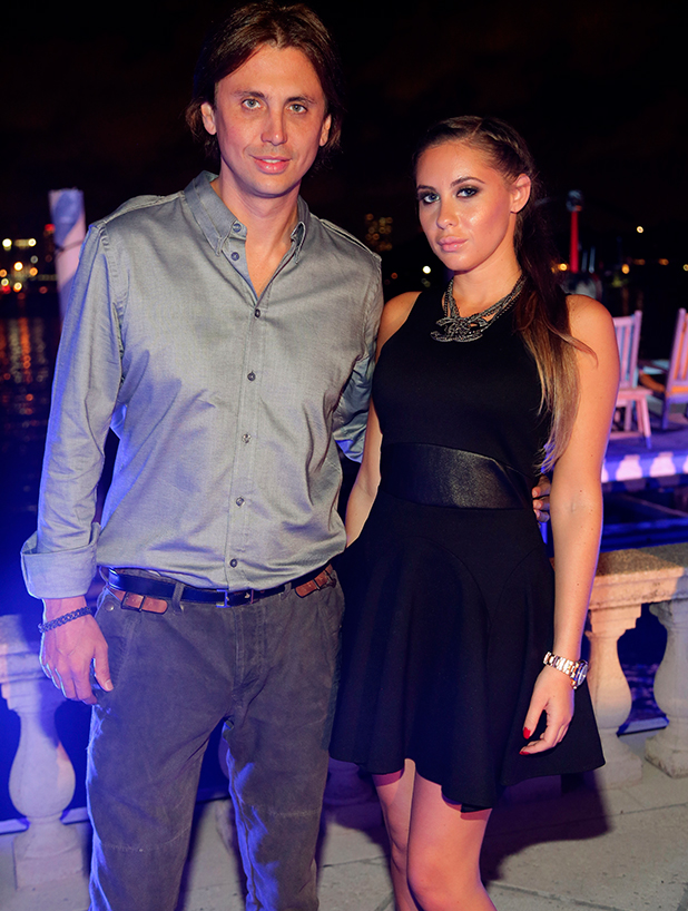 Jonathan Cheban and Anat Popovsky attend the Art of Fusion on Star Island at Miami Beach on December 6, 2013 in Miami, Florida. (Photo by Alexander Tamargo/Getty Images for Haute Living)