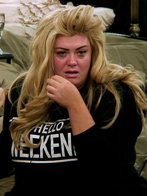 Gemma Collins wakes up on Day 3 in the CBB house, 7 Jan 2016