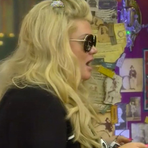 Gemma Collins talks to Angie Bowie and Jonathan Cheban after they row CBB, Day 3, 7 Jan 2016