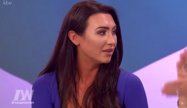 Lauren Goodger appearing on Loose Women to discuss weight loss, 4 January 2016