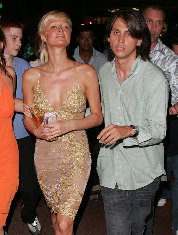 Paris Hilton and Jonathan Cheban during Celebrity Sightings in South Beach - August 27th, 2004 at South Beach in Miami, Florida, United States. (Photo by James Devaney/WireImage)