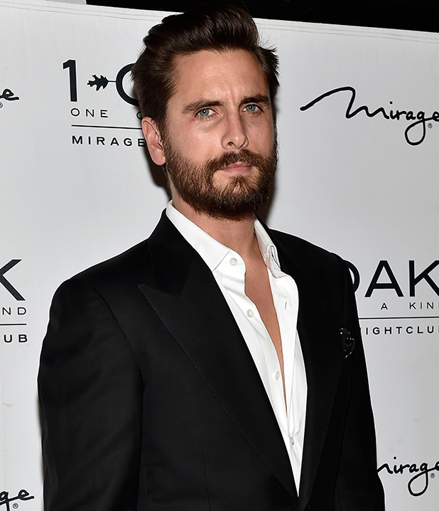Television personality Scott Disick arrives at 1 OAK Nightclub at The Mirage Hotel & Casino to host a New Year's Eve celebration on December 31, 2015 in Las Vegas, Nevada.