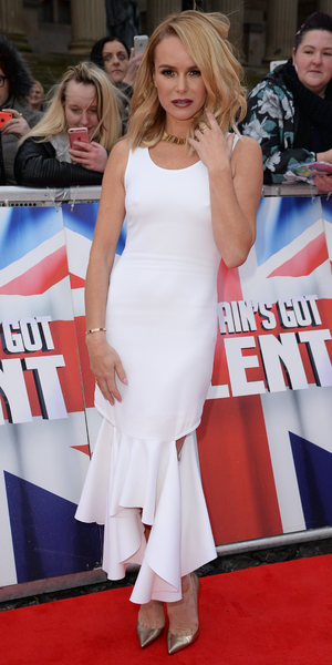 Amanda Holden, Britain's Got Talent filming in Liverpool 15 January