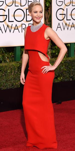 Jennifer Lawrence, 73rd Annual Golden Globe Awards, Arrivals, Los Angeles, America - 10 Jan 2016