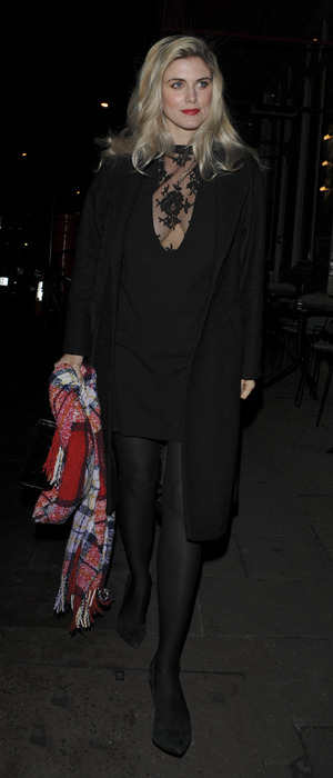Ashley James attends the Lisa Snowdon Jewellery Collection Launch Party at Sexy Fish in London, 13th January 2016
