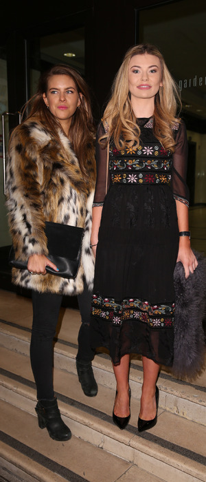 Made in Chelsea's Georgia Toffolo and Millie Wilkinson at Britain's Next Top Model launch party in London, 15th January 2016