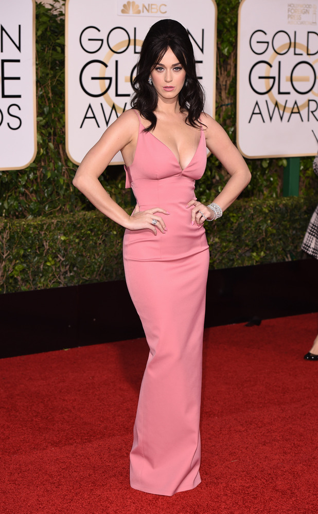 Katy Perry Big Hair And Big Boobs At The Golden Globes