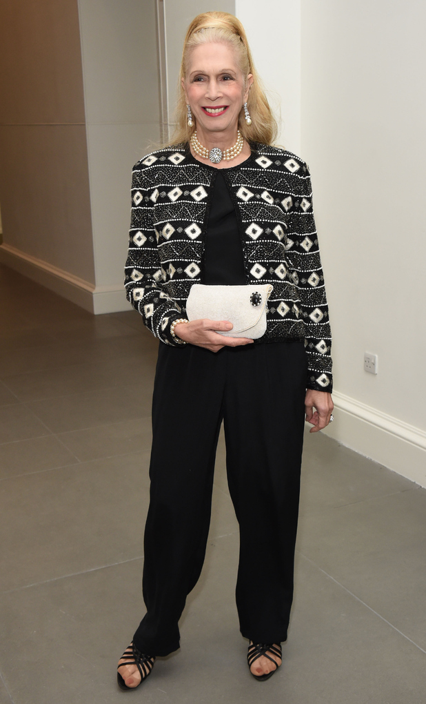 Lady Colin Campbell attends Saatchi's first ever all female show to mark the Gallery's 30th Anniversary at The Saatchi Gallery on January 12, 2016 in London, England.