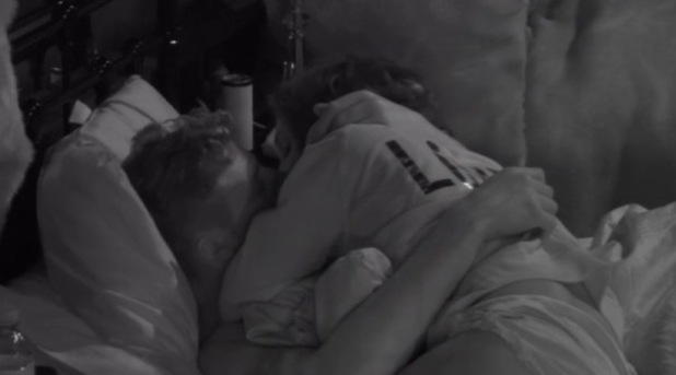 CBB: Megan McKenna and Scotty T snog in bed. 12 January 2016.