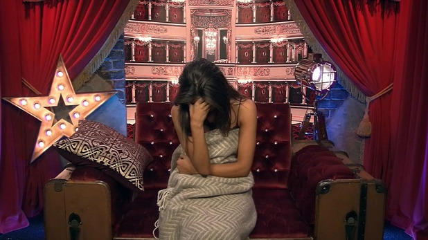 CBB: Megan returns to the house after spending the night in a spare room. 14 January 2016.