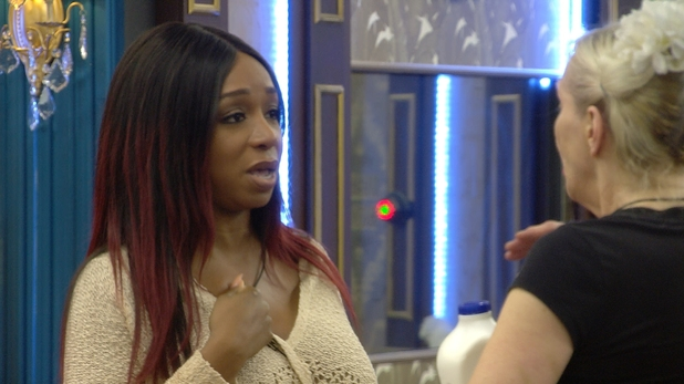 CBB: Tiffany and ANGIE argue during the talent show task. 10 January 2016.