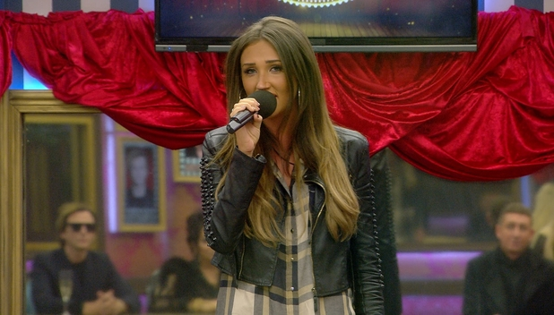 CBB: Megan McKenna singing during the talent show task. 10 January 2016.
