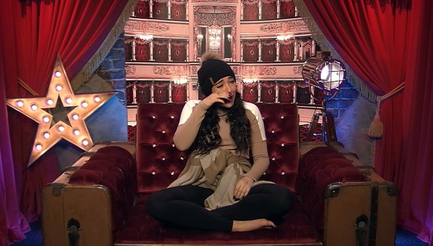 CBB: Stephanie Davis in tears in the Diary Room over Jeremy friendship. 11 January 2016.