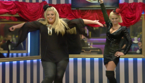 CBB: Gemma and Danniella performing during the talent show task. 10 January 2016.