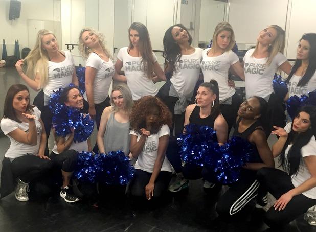 Orlando Magic dance team - London dance session. 13 January 2016.