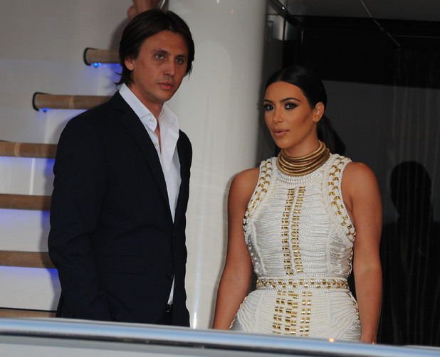 Kim Kardashian attends MailOnline's yacht party during Cannes Lions 2014.