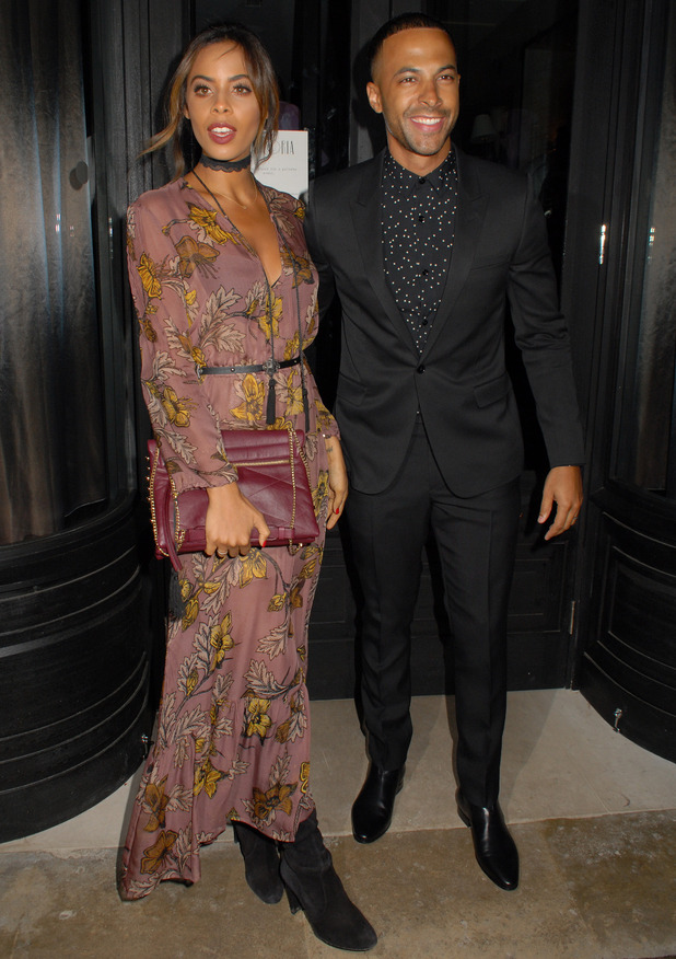 Rochelle and Marvin Humes attend the London Collections Men AW16 closing dinner hosted by GQ editor Dylan Jones and LCM Ambassadors held at Sartoria, 10th January 2016