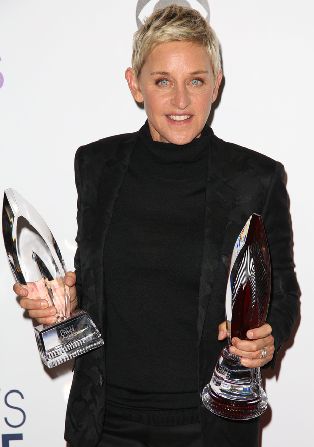 Ellen DeGeneres - People's Choice Awards 2016 held at the Microsoft Theatre L.A. Live - Press Room - 6 January 2016.