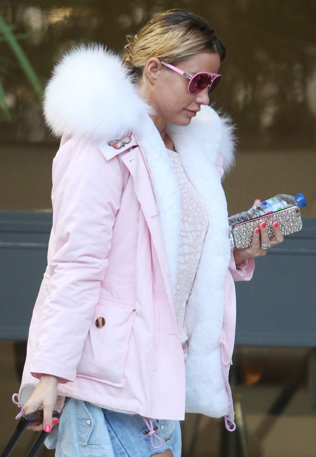 Katie Price seen arriving at ITV Studios in London ahead of Loose Women appearance, 12th January 2016