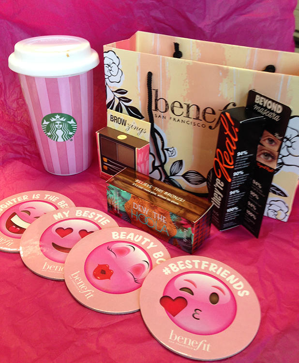 Benefit and Starbucks combine for Valentine's Day