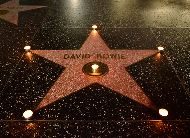 David Bowie remembered on The Hollywood Walk of Fame on January 10, 2016 in Hollywood, California. (Photo by Araya Diaz/Getty Images)
