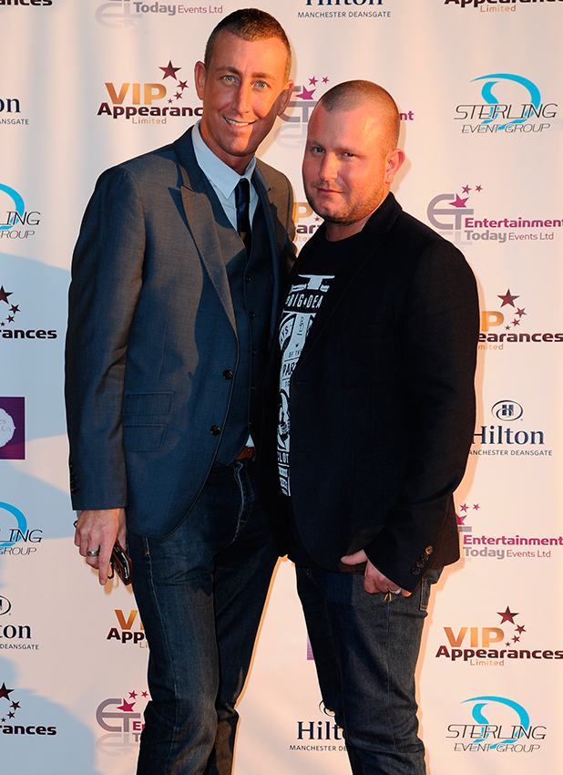 Christopher Maloney and boyfriend at the launch of VIP appearances at the Hilton hotel Manchester 2013