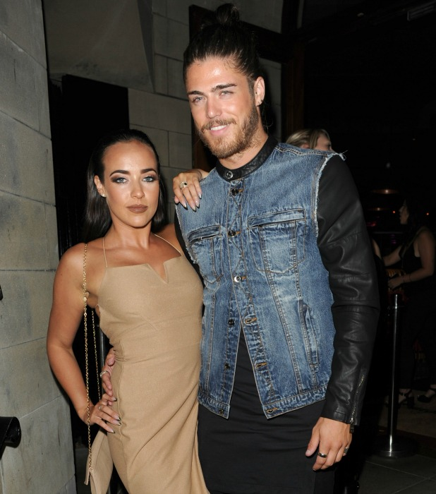 Opening night at Burger and Lobster restaurant in Manchester Sam Reece and Stephanie Davis