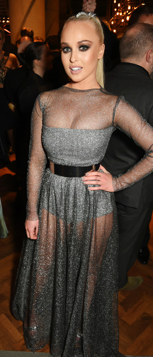 I'm A Celebrity's Jorgie Porter poses in see-through dress at the National Television Awards (NTAs) London, 21st January 2016