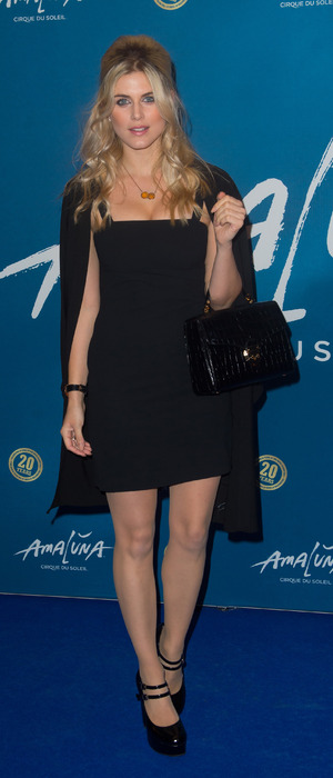 Made in Chelsea's Ashley James attends The premiere of Cirque du Soleil's Amaluna at the Royal Albert Hall, London, 20th January 2016