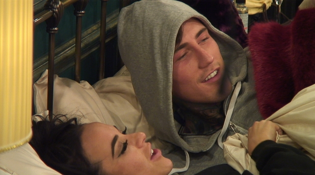CBB: Jeremy McConnell and Stephanie Davis in bed. 17 January 2016.