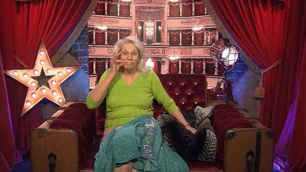 Angie Bowie in the Celebrity Big Brother house. 17 January 2016.