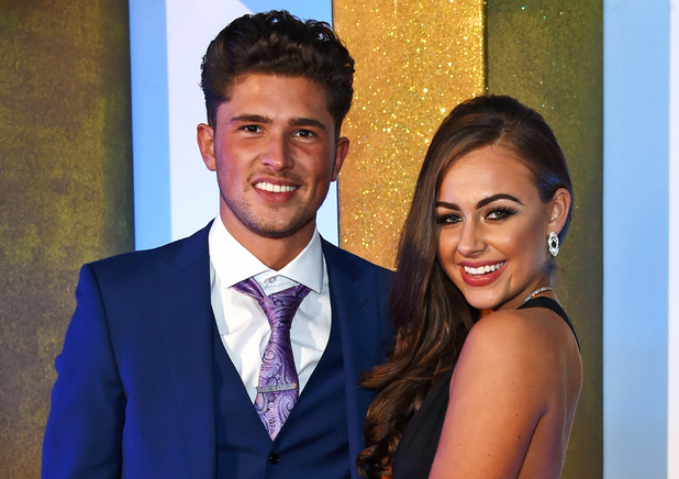 Jordan Davies and Ashleigh Defty attend the NTAs, London 20 January