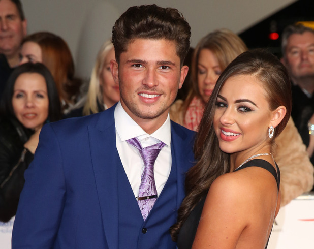 Jordan Davies and Ashleigh Defty attend the National Television Awards, London 20 January