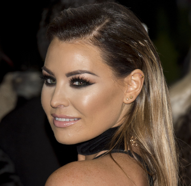 TOWIE's Jess Wright (Jessica Wright) shows off beauty look at the National Television Awards, 21st January 2016