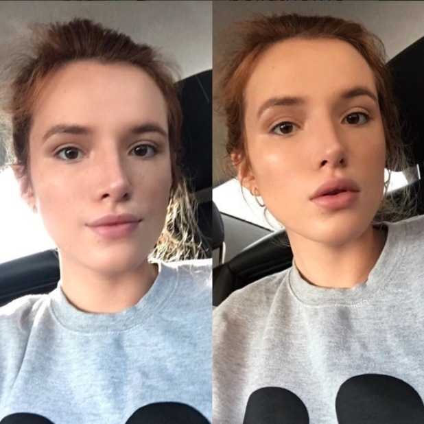 Bella Thorne takes to Instagram to share no make-up selfie, 18th January 2016