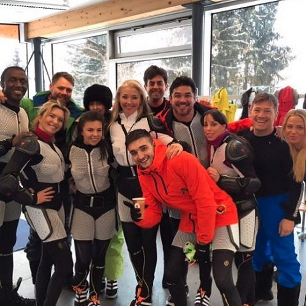 James 'Arg' Argent shares a photo with the rest of The Jump 2016 cast, 19th January 2016