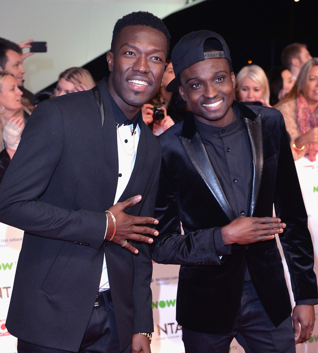 Reggie and Bollie from The X Factor attend the 21st National Television Awards at The O2 Arena on January 20, 2016 in London, England.