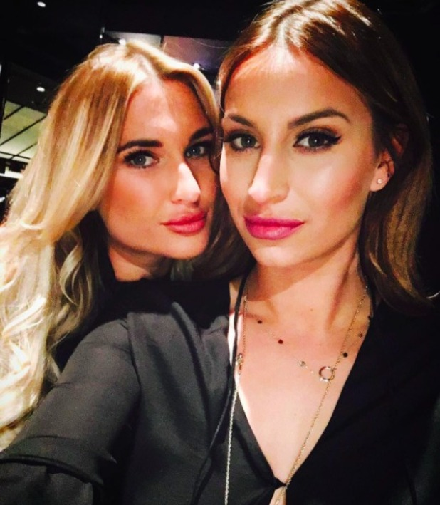 Ferne McCann and Billie Faiers enjoy girlie night out, 23 January 2016.
