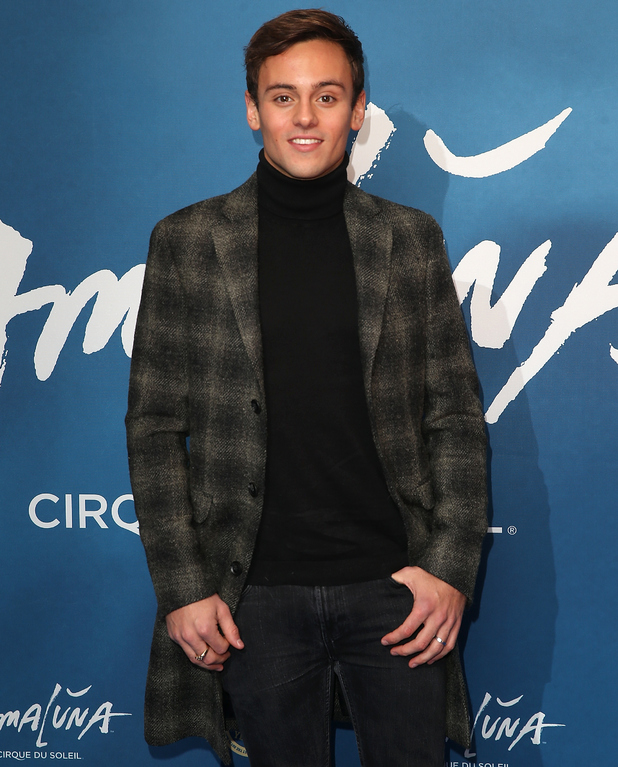 Tom Daley attends the red carpet arrivals for Cirque Du Soleil Amaluna at Royal Albert Hall 19 January