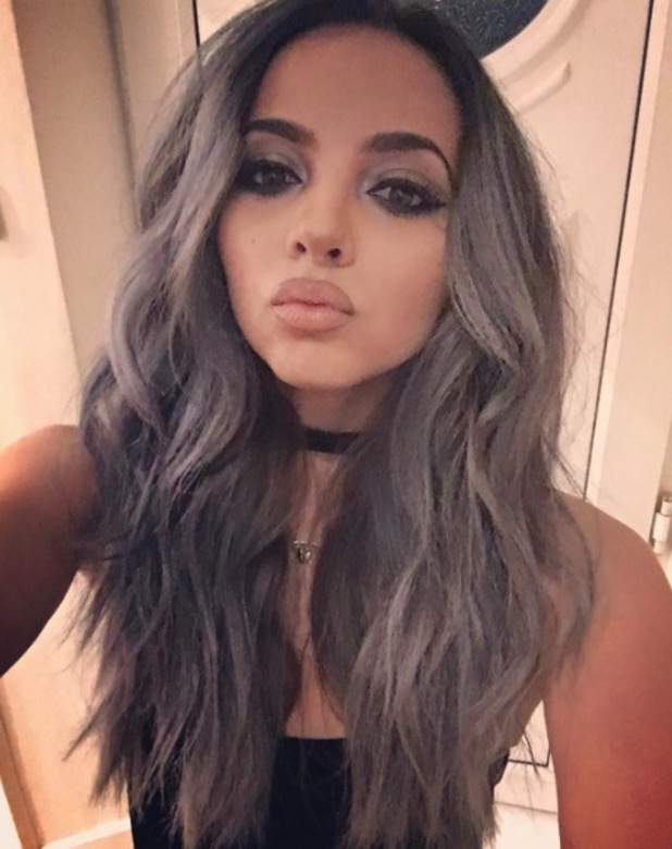Little Mix star Jade Thirlwall takes to Instagram to show off her new grey hair, 18th January 2016