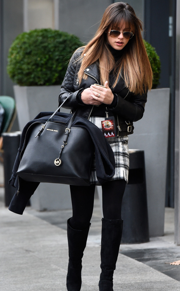 Georgia May Foote arrives at Strictly tour rehearsals, Birmingham 21 January