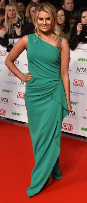 Danielle Armstrong attends the 21st National Television Awards at The O2 Arena on January 20, 2016 in London, England.