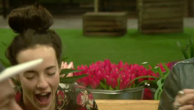 CBB Day 13: Jeremy and Stephanie talk in the garden before going to the snug for some peace.