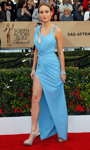 Brie Larson attends the 22nd Annual Screen Actors Guild Awards at The Shrine Auditorium on January 30, 2016 in Los Angeles, California