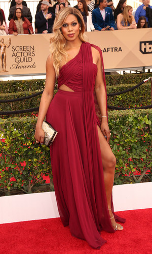Laverne Cox attends the 22nd Annual Screen Actors Guild Awards at The Shrine Auditorium on January 30, 2016 in Los Angeles, California