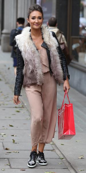 Megan McKenna seen shopping at Kurt Geiger at Whiteleys on January 26, 2016 in London, England. 26th January 2016
