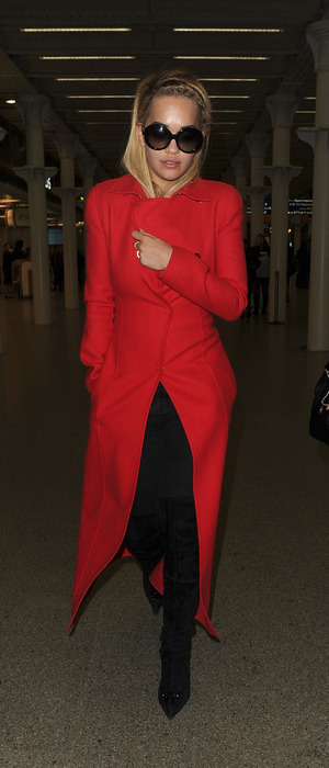 Rita Ora seen arriving in London via Eurostar after attending the Paris Fashion Week couture shows, 27th January 2016